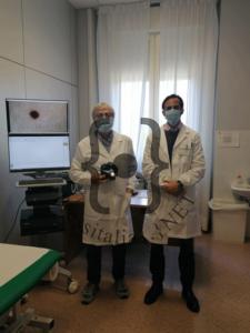 Prof. Maurizio Coppini dermatologo e dott. Agostino Mancuso Dir.